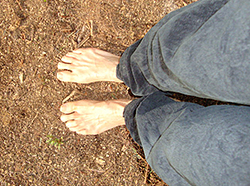 Barefoot on the earth