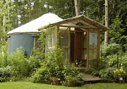 Yurt Photo, Tree Frog Farm
