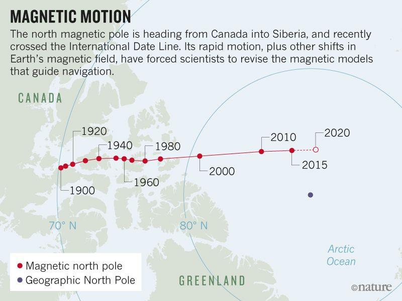Magnetic north pole - Tree Frog Farm